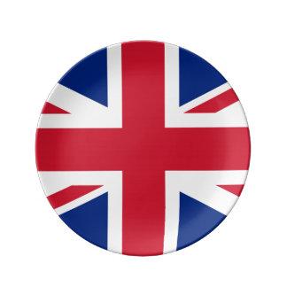 Prato De Porcelana Bandeira de Reino Unido Reino Unido