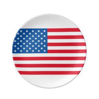 Prato De Porcelana Bandeira dos Estados Unidos da bandeira dos EUA