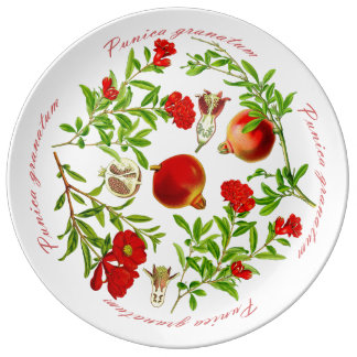 Prato De Porcelana Bandeja da romã (você pode personalizar)