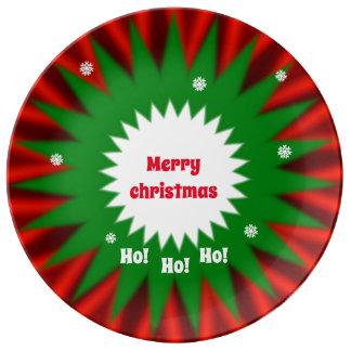 Prato De Porcelana Bandeja do Natal