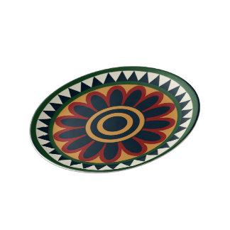 Prato De Porcelana Bandejas decorativas egípcias do partido das