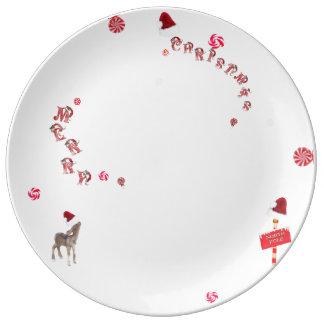 Prato De Porcelana Base porcelana Sweet Natal