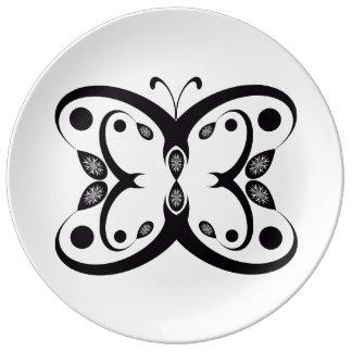 Prato De Porcelana Borboleta de Geo