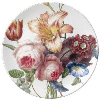Prato De Porcelana Buquê do vintage