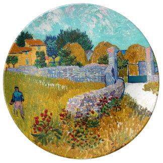 Prato De Porcelana Casa da quinta em belas artes de Provence (F454)