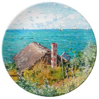 Prato De Porcelana Claude Monet a cabine em belas artes do