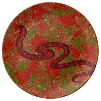 Prato De Porcelana Cobra do outono
