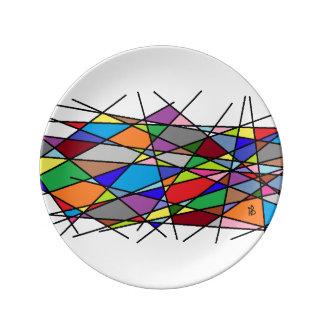 Prato De Porcelana color Line