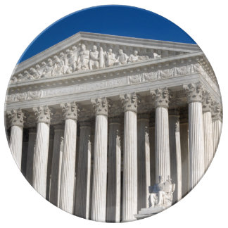 Prato De Porcelana Corte suprema dos Estados Unidos