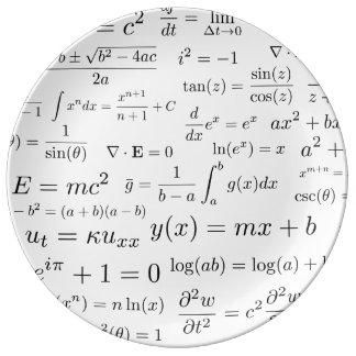 Prato De Porcelana Equações da placa de China da matemática e da