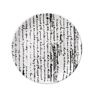 Prato De Porcelana Esboço bonito do roteiro desde 1776 por Jefferson