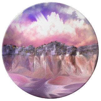 Prato De Porcelana Esta é uma placa da porcelana projetada por oásis