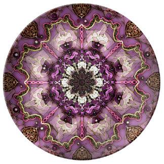 Prato De Porcelana Esta é uma placa projetada da porcelana por oásis
