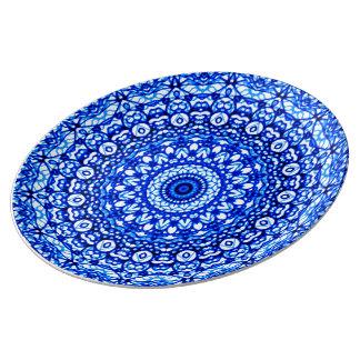 Prato De Porcelana Estilo G403 de Mehndi da mandala da placa da