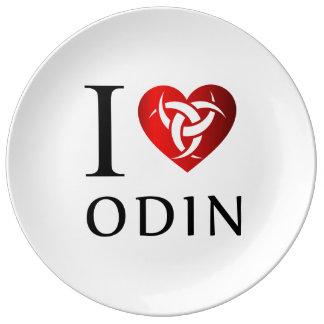 Prato De Porcelana Eu amo Odin