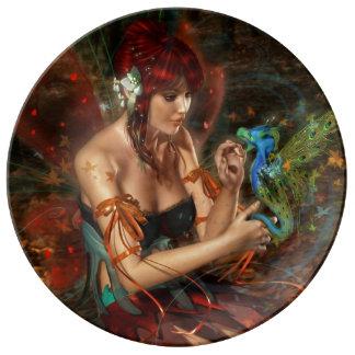 Prato De Porcelana Fantasia mágica & Mystical