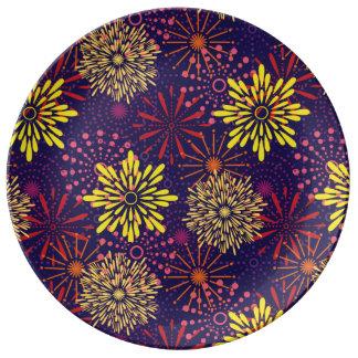 Prato De Porcelana Fogos-de-artifício