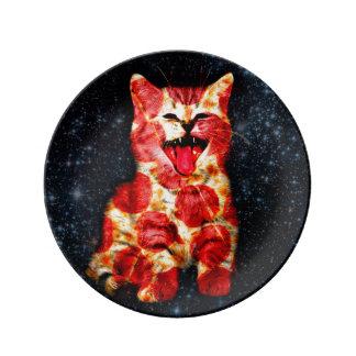 Prato De Porcelana gato da pizza - gatinho - gatinho