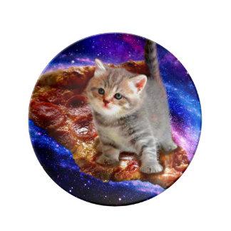 Prato De Porcelana gato da pizza - gatos bonitos - gatinho - gatinhos