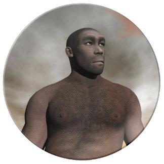 Prato De Porcelana Homo erectus masculino - 3D rendem