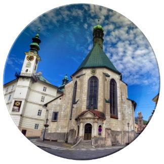 Prato De Porcelana Igreja de St. Catherine, Banska Stiavnica,