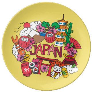 Prato De Porcelana Kawaii Japão bonito!