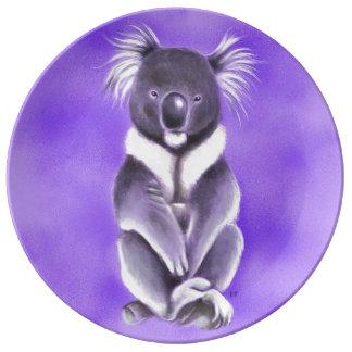 Prato De Porcelana Koala de Buddha