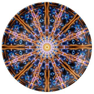 Prato De Porcelana Mandala da estrela da alquimia