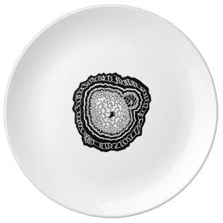 Prato De Porcelana Mandala núcleo doodle geometria