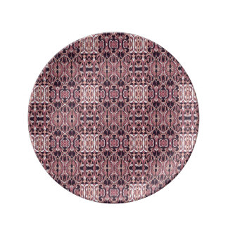 Prato De Porcelana Mão abstrata teste padrão tirado. Cores violetas