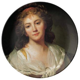 Prato De Porcelana Marie-Geneviève Bouliard, Auto-retrato