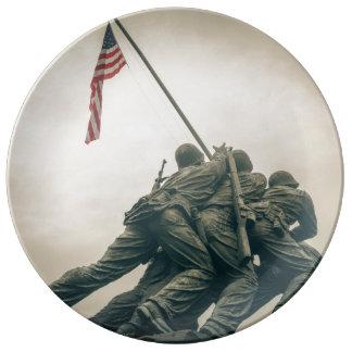Prato De Porcelana Memorial de Iwo Jima no Washington DC
