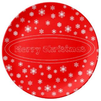 Prato de porcelana Merry Christmas