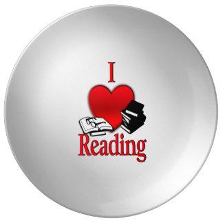 Prato De Porcelana Mim leitura do coração