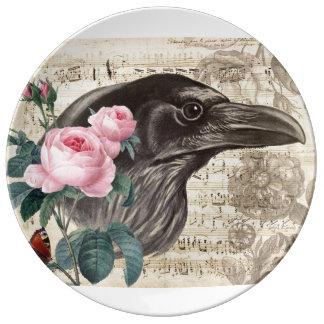 Prato De Porcelana Música do corvo