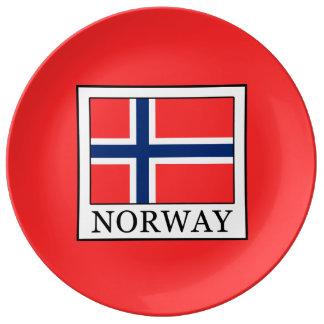 Prato De Porcelana Noruega