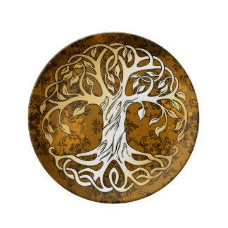 Prato De Porcelana Oferecimento ritual da feitiçaria medieval de