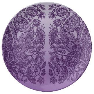 Prato De Porcelana ornaments o roxo