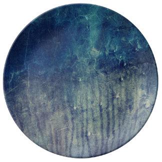 Prato De Porcelana Parede azul