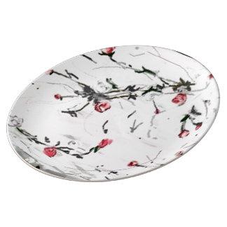 Prato De Porcelana Placa cor-de-rosa da mistura variada