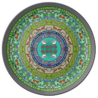 Prato De Porcelana Placa da porcelana da mandala do estado de New