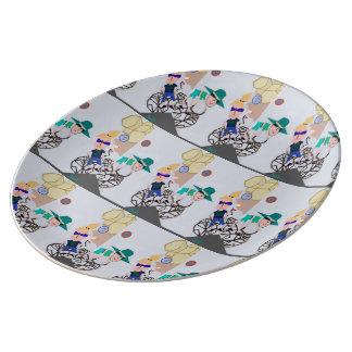 """Prato De Porcelana """"Placa da porcelana do eclipse solar"""" daqui até"""