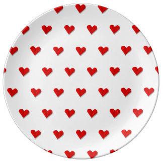 Prato De Porcelana Placa da porcelana do teste padrão de Origami do