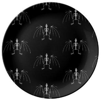 Prato De Porcelana Placa de esqueleto voada