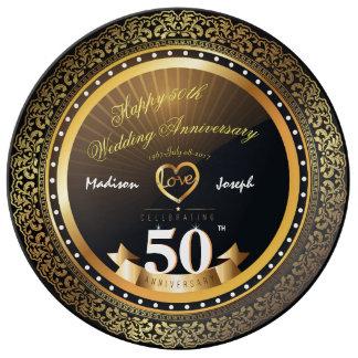 Prato De Porcelana Placa decorativa da porcelana do aniversário do