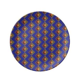 Prato De Porcelana Placa decorativa da porcelana do teste padrão azul