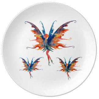 Prato De Porcelana Placa decorativa feericamente da porcelana de