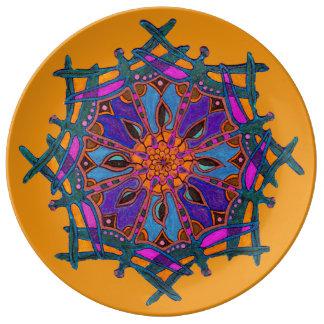 Prato De Porcelana Placa decorativa feita sob encomenda da porcelana