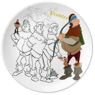 """Prato De Porcelana Placa do esboço da porcelana de Bromley (10,75"""")"""