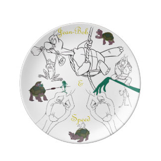 Prato De Porcelana Placa do esboço da porcelana de Jean-Bob&Speed